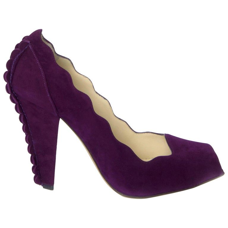 New Tom Ford for Yves Saint Laurent YSL Suede Heels Pumps Sz 37 For Sale