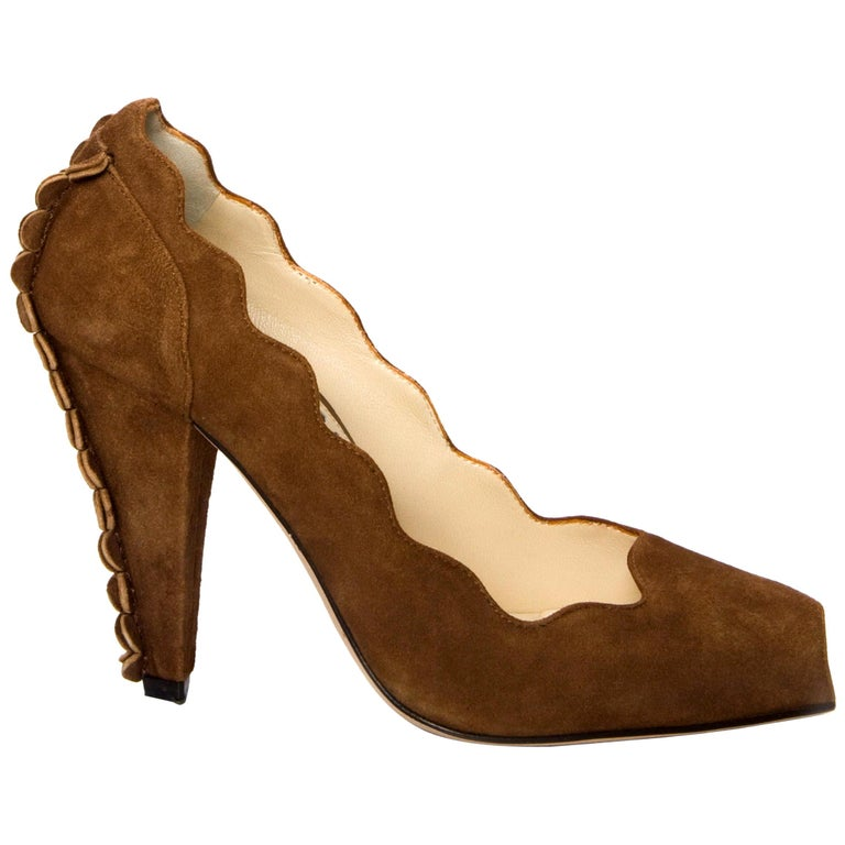 New Tom Ford for Yves Saint Laurent YSL Suede Heels Pumps Sz 38 For Sale