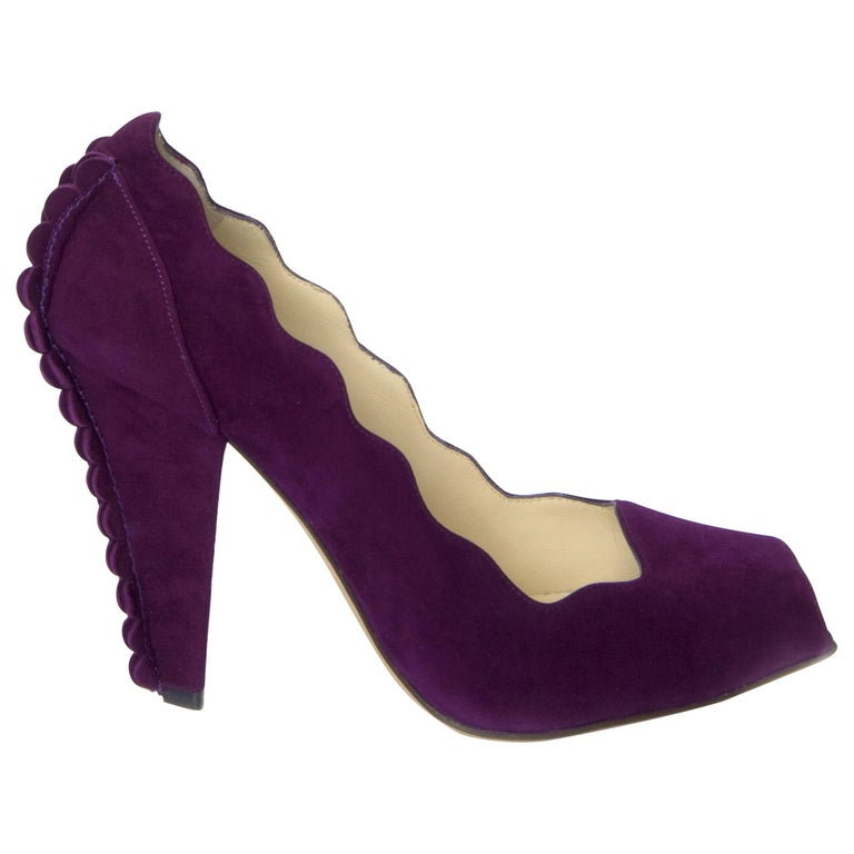 New Tom Ford for Yves Saint Laurent YSL Suede Heels Pumps Sz 40 For Sale