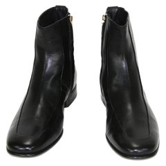New Tom Ford Men's Black Kid Goat Leather Ankle Dress Boots size 9