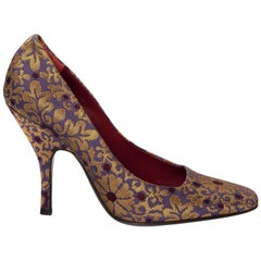 New Tom Ford Yves Saint Laurent YSL Brocade Heels Pumps Sz 38.5