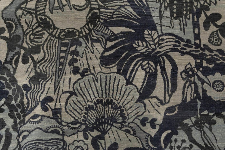 Art Nouveau New Traditional Inspired Rug For Sale