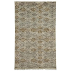 New Transitional Area Rug with Artisan Style and Geometric Pattern