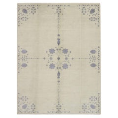 New Transitional 'Flores Delicatiores' Area Rug with Modern French Country Style