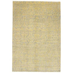 New Transitional Ikat Area Rug with Modern Design, Contemporary Neutral Area Rug