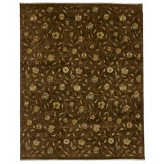 New Transitional Indian Area Rug with Warm Russian Dachas Luxe Home Style