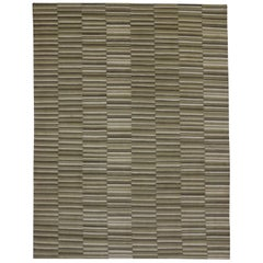 New Transitional Striped Area Rug with Modern Style