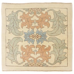 New Turkish Donegal Rug with Blue and Brown Botanical Details