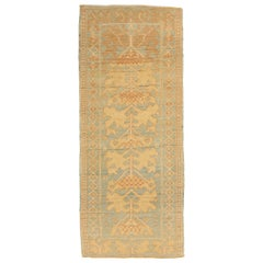New Turkish Donegal Runner Rug with Brown and Beige Tribal Details