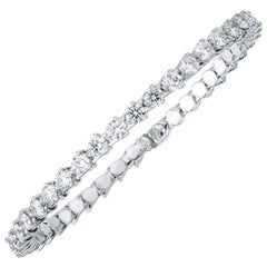 New Type of Spring Bangle Tennis Diamond Bracelet