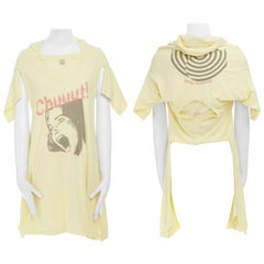 new UNDERCOVER Chuut! print yellow cotton deconstructed  t-shirt tunic top JP2 M