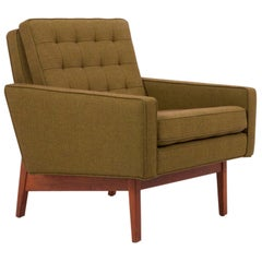 New Upholstered Jens Risom Lounge Chair in Risom Camira Fabric US, 1950s