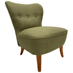 New Upholstered Ploeg Wool Lounge Chair by Tijsseling, the Netherlands, 1950s