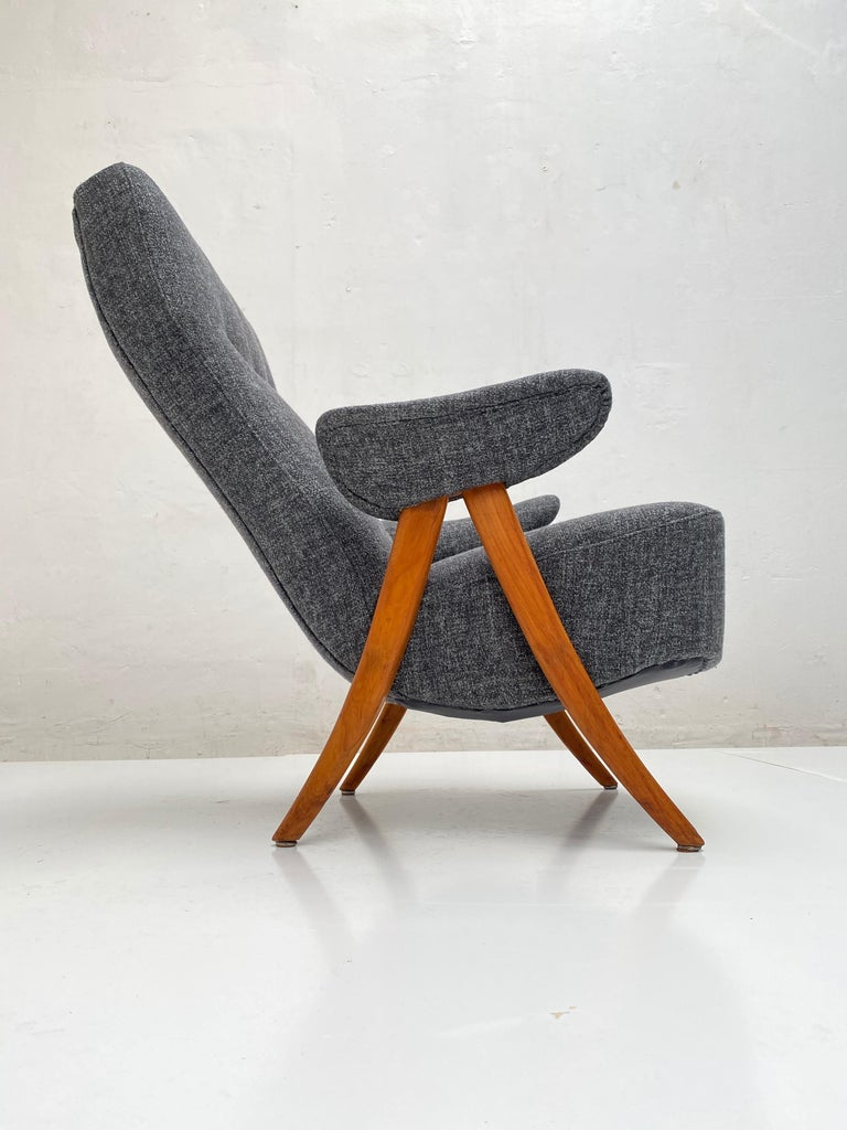 Dutch New Upholstery Theo Ruth Model 105 Lounge Chair, Artifort, 1957, the Netherlands For Sale