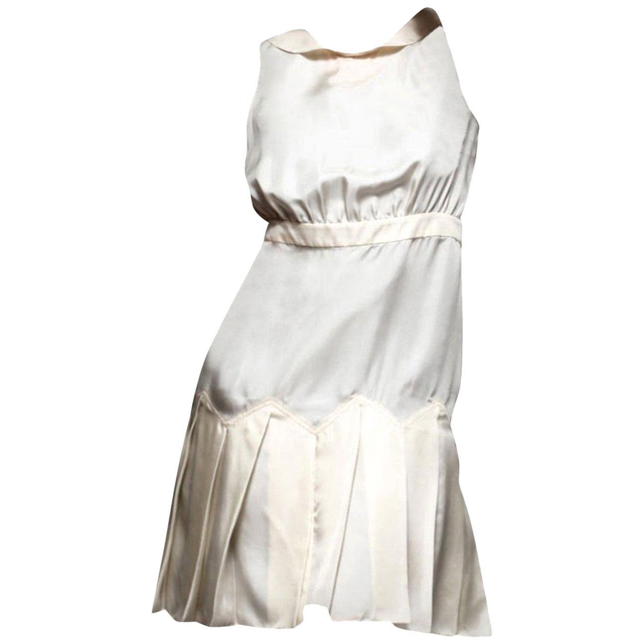 New Vera Wang Lavender Label Silk Peter Pan Dress Sz 6
