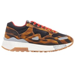 new VERSACE Achilles leopard Animalier Mix print chunky sole dad sneakers EU41.5