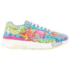 new VERSACE Achilles Technicolor Baroque print chunky sole dad sneakers EU43