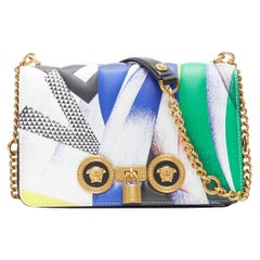 new VERSACE AW18 Runway The Clash Tribute Icon Medusa turnlock flap shoulder bag