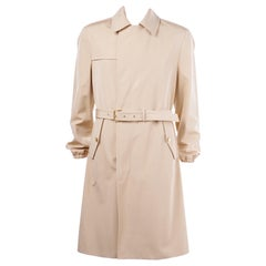 New Versace Belted Tan Trench Coat for Men