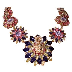 New Versace Blooming Medusa Crystal Necklace