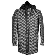 NEW VERSACE CHECKERED COAT with HOOD for MEN