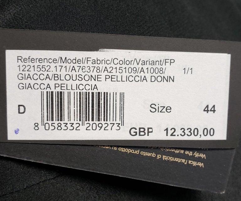 New Versace Crystal Embellished Black Mink Fur Jacket 44 - 8 For Sale 6