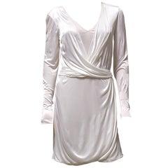 New VERSACE DELICATE PEARL WHITE MINI DRESS 42 - 6