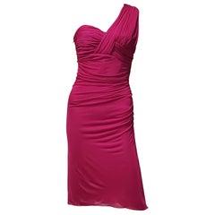 New VERSACE FUCHSIA PINK DRESS 40 - 4