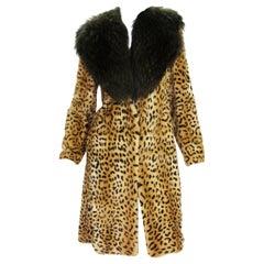 New Versace Fur Mink Leopard Print Coat It. 38