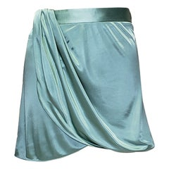 New VERSACE GREEN VISCOSE MINI SKIRT 42 - 6