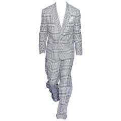 New VERSACE HOUNDSTOOTH WOOL CASHMERE SUIT for MEN