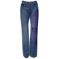 NEW VERSACE JEANS COUTURE w/ PURPLE SEQUINS JEANS 28 - 42