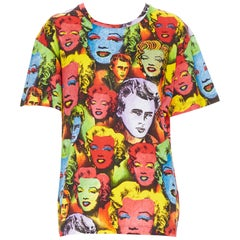new VERSACE Limited Edition Tribute Warhol SS1991 crystal Monroe t-shirt M