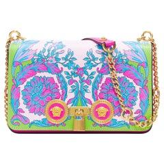 new VERSACE Medium Icon Runway Technicolor Baroque neon gold Medusa lock bag