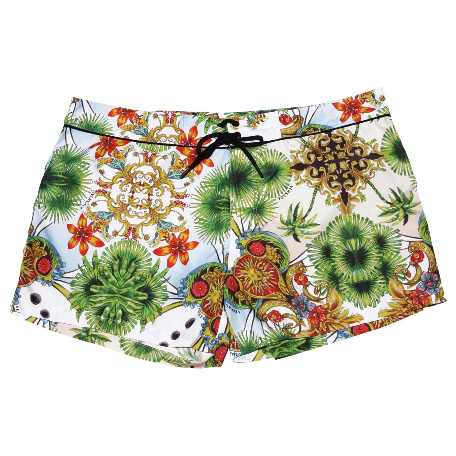 "New Versace Men's *Miami* Swimwear Beachwear Shorts size 7 - waist 38"""