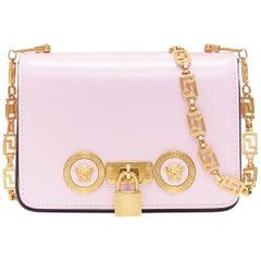 new VERSACE Mini Icon baby pink gold Medusa turnlock Greca chain shoulder bag