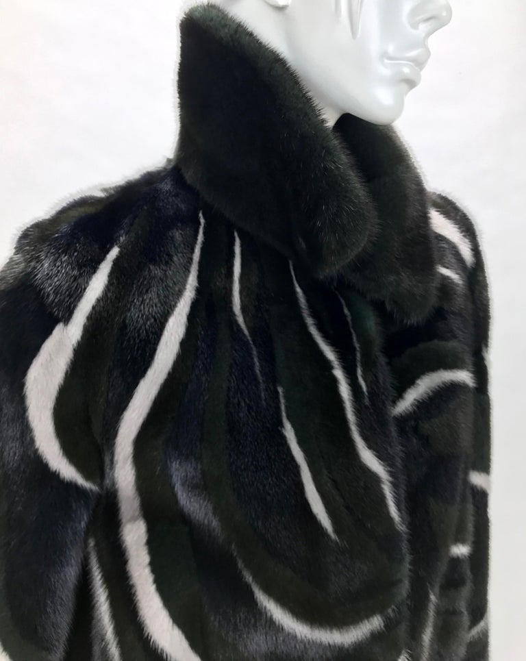 New Versace Mink Fur Jacket In New Condition For Sale In Montgomery, TX