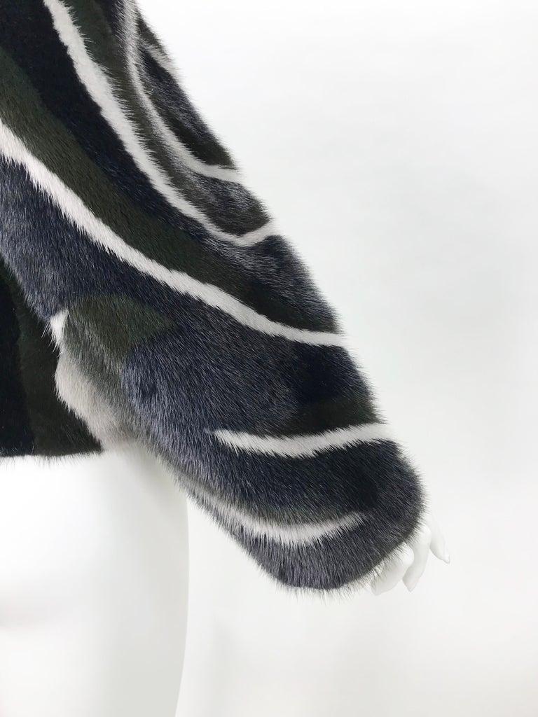New Versace Mink Fur Jacket For Sale 1