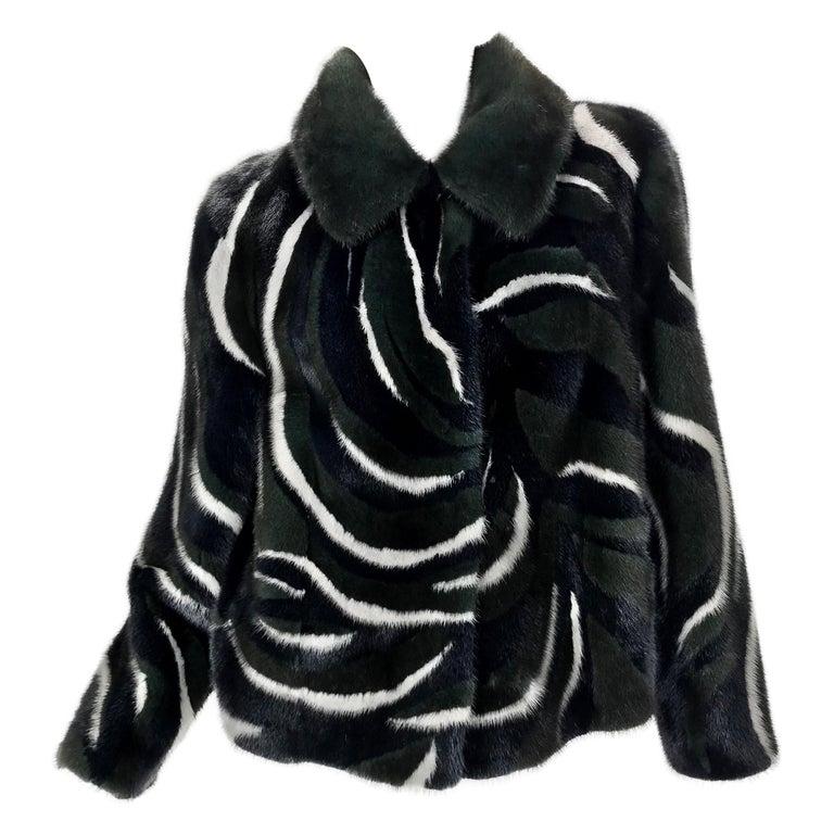 New Versace Mink Fur Jacket For Sale