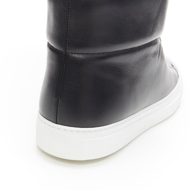 new VERSACE Palazzo gold Medusa black calfskin leather high top sneaker EU40 For Sale 4