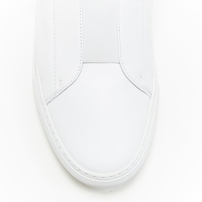 new VERSACE Palazzo gold Medusa white calfskin leather high top sneaker EU40 For Sale 3