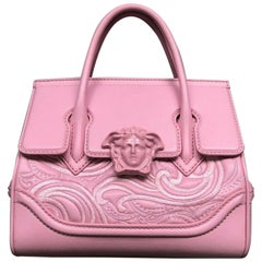 New VERSACE Palazzo Small Empire pink leather embroidery Medusa shoulder bag