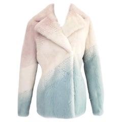 New Versace pastel mink fur jacket