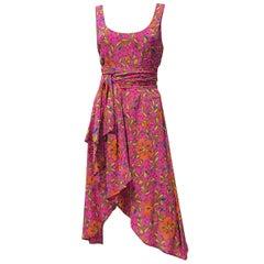 NEW VERSACE PINK FLORAL PRINT SILK Dress 44 - 10
