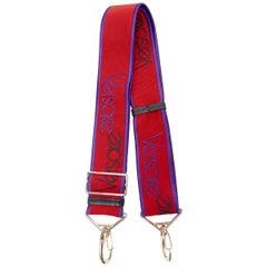 new VERSACE red purple 90's logo embroidered adjustable shoulder bag sport strap