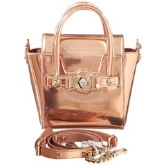 NEW VERSACE ROSE GOLD-PLATED PATENT LEATHER Mini BAG