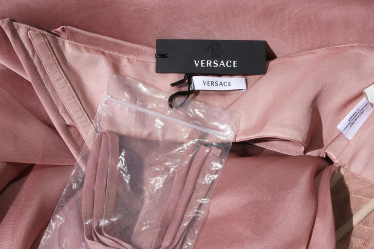 New Versace Runway Silk Nude Corset Cut-Out Dress Gown It.38 - US 4 For Sale 5