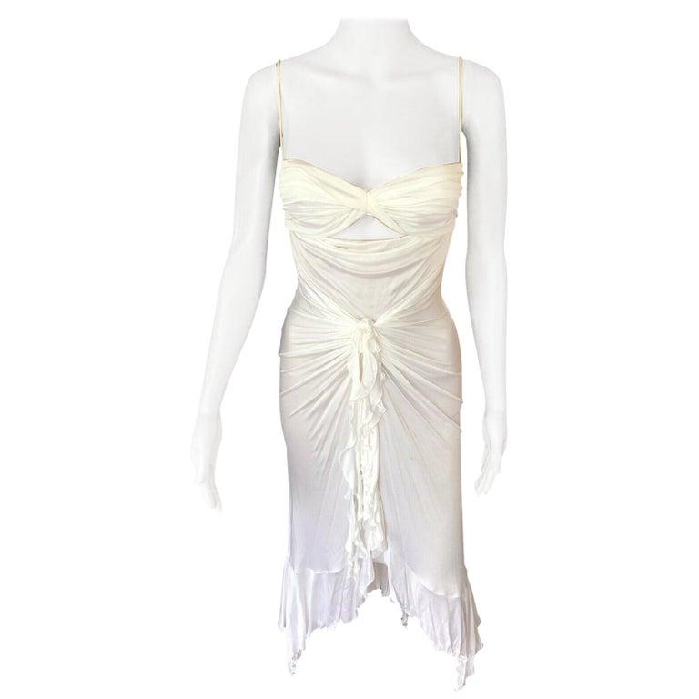 New Versace S/S 2004 Runway White Cutout Dress