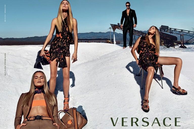 New Versace S/S 2016 Gigi Hadid  Medusa Runway Ad Heels Platform Pumps Sz 36.5 For Sale 8