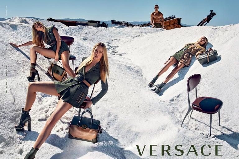 New Versace S/S 2016 Gigi Hadid  Medusa Runway Ad Heels Platform Pumps Sz 36.5 For Sale 11